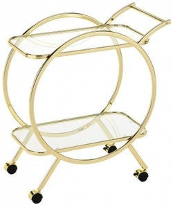 Haxby Drinks Trolley - Gold and Clear Glass