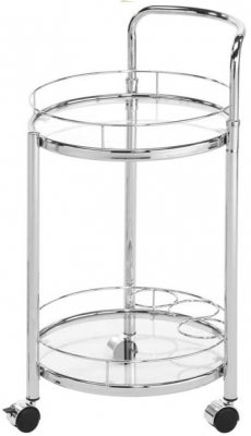 Haxby Drinks Trolley - Steel and Clear Glass