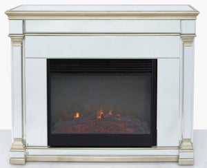 Killona Champagne Gold Mirrored Fire Surround with Electric Fire