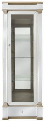 Killona Champagne Gold Mirrored 1 Right Door Display Cabinet