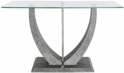 Licata Glass and Grey Console Table