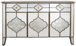 Morocco Champagne Mirrored Sideboard