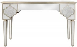 Morocco Champagne Mirrored 3 Drawer Console Table