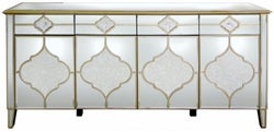 Morocco Champagne Mirrored Wide Sideboard