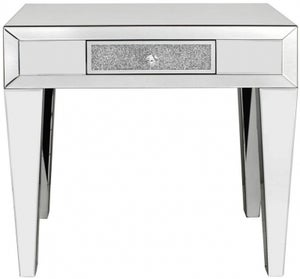 Naro Mirrored 1 Drawer Console Table