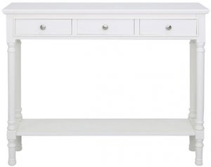 Driffield White 3 Drawer Large Console Table