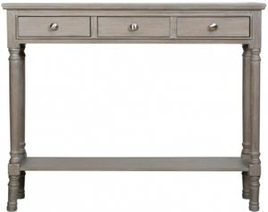 Serra Taupe 3 Drawer Console Table