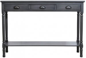 Serra Grey 3 Drawer Large Console Table
