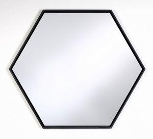 Deknudt Lina Hex Black Wall Mirror