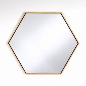 Deknudt Lina Hex Oak Wall Mirror
