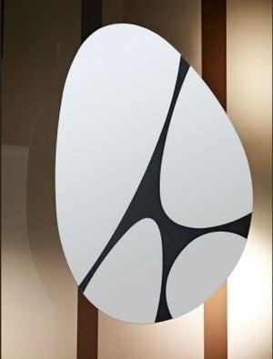 Deknudt Pebbles Black Oval Wall Mirror