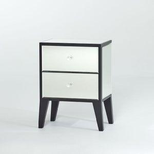 Deknudt Emma Mirrored Bedside Cabinet