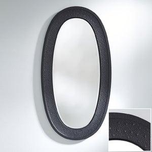 Deknudt Etna Black Oval Wall Mirror