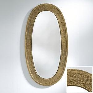 Deknudt Etna Gold Oval Wall Mirror