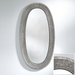 Deknudt Etna Silver Oval Wall Mirror