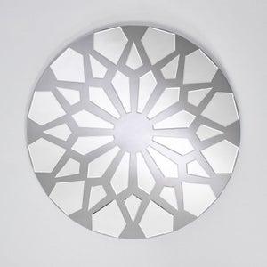 Deknudt Cluster Grey Round Wall Mirror