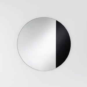 Deknudt Cord Black Round Wall Mirror