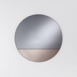 Deknudt Cord Bronze Round Wall Mirror