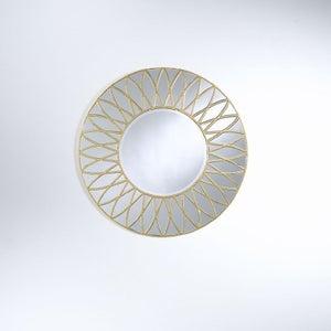 Deknudt Dahlia Gold Round Wall Mirror