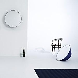 Deknudt Edvard Black Round Wall Mirror