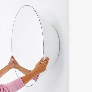 Deknudt Edvard White Round Wall Mirror