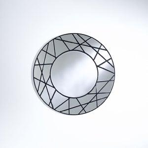 Deknudt Graphic Black Round Wall Mirror