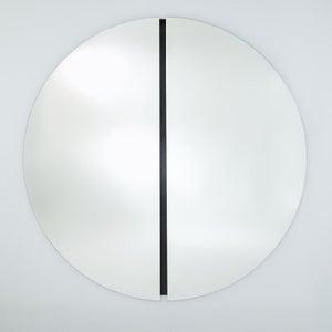 Deknudt Luna Black Round Wall Mirror
