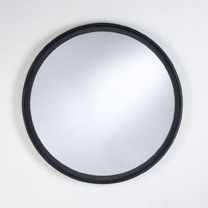 Deknudt Radius L Black Round Wall Mirror