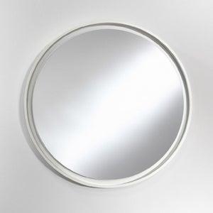 Deknudt Radius L White Round Wall Mirror