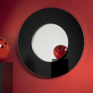 Deknudt Rondo L Black Round Wall Mirror
