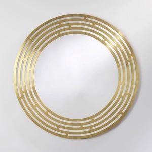 Deknudt Speed Brass Round Wall Mirror