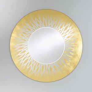 Deknudt Zora Gold Round Wall Mirror