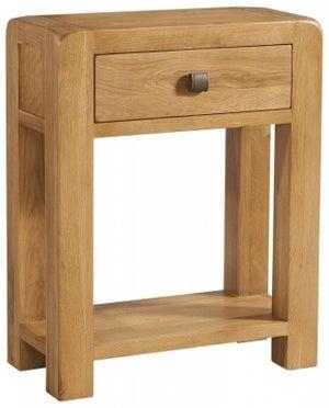 Avon Oak 1 Drawer Small Console Table