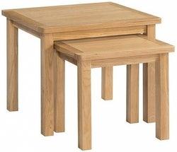 Burford Oak Nest of 2 Tables