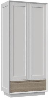 Corton Light Grey Painted 2 Door Double Wardrobe