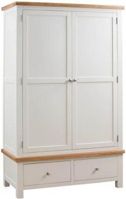 Dorset Ivory Painted 2 Door Double Wardrobe