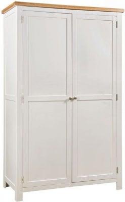 Dorset Ivory Painted 2 Door Hanging Wardrobe
