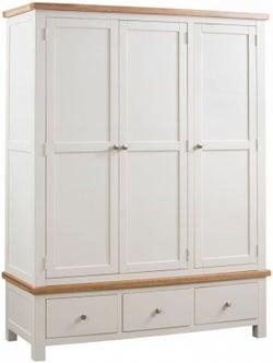 Dorset Ivory Painted 3 Door Triple Wardrobe