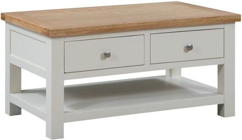 Dorset Ivory Painted Storage Coffee Table