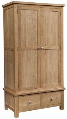 Dorset Oak 2 Door Gents Wardrobe