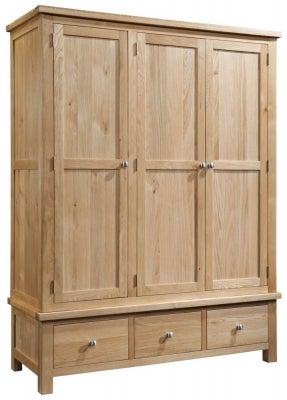 Dorset Oak 3 Door Triple Wardrobe