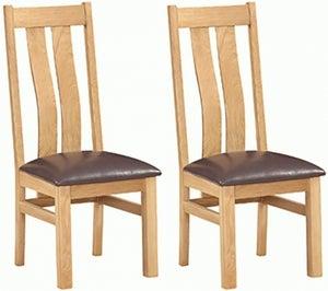 Dorset Oak Arizona Dining Chair (Pair)