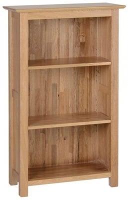 New Oak Narrow Low Bookcase