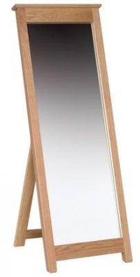 New Oak Cheval Mirror