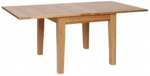 New Oak Flip Top Extending Dining Table