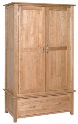 New Oak 2 Door Gents Wardrobe