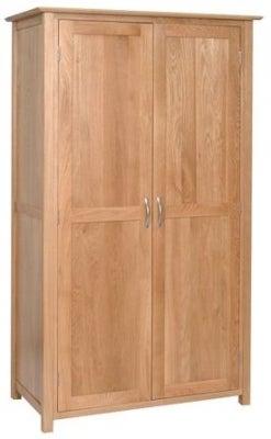 New Oak 2 Door Ladies Wardrobe