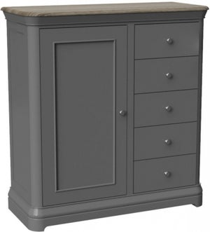 Pebble Slate Grey Painted Gents Chest