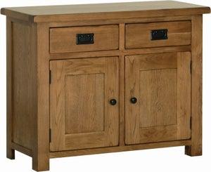 Rustic Oak Small Dresser Base
