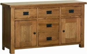 Rustic Oak Large Dresser Base